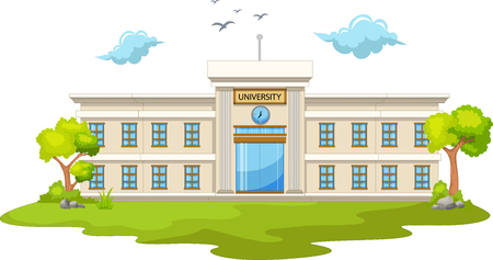 beautiful university cartoon Stock Illustratie