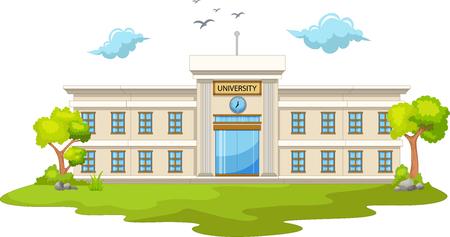beautiful university cartoon Illustration