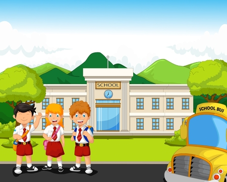 96,752 School Kids Stock Illustrations, Cliparts And Royalty Free ...