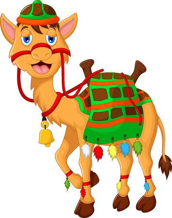 camel in desert: cute camel cartoon walking