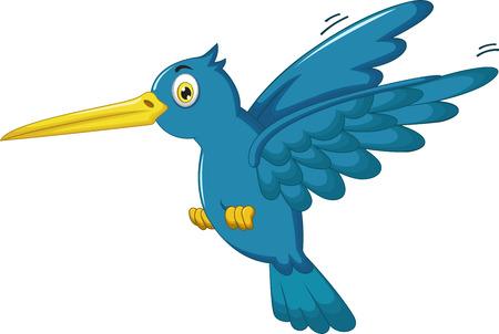 Kingfisher cartoon flying Illustration