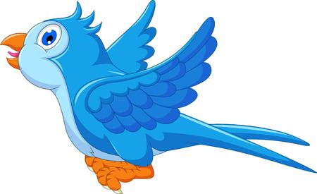 pajaro caricatura: vuelo azul de dibujos animados de aves