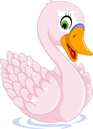goose cartoon posing Illustration