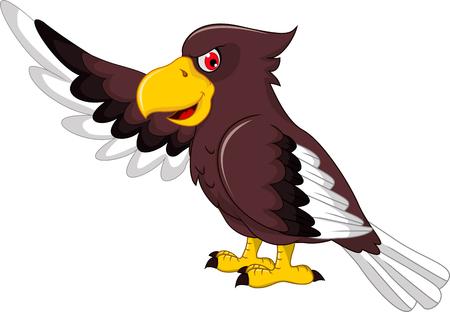 cartoon eagle: Cute Eagle cartoon