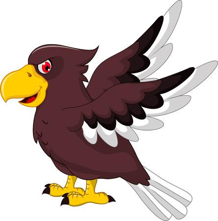 posing: Cute Eagle cartoon posing