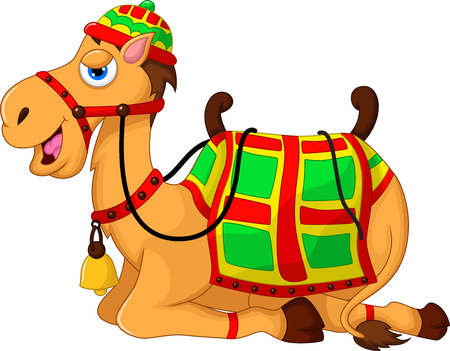 cartoon camel: cute camel cartoon sitting
