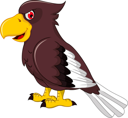 red eye: cute parrot cartoon Illustration