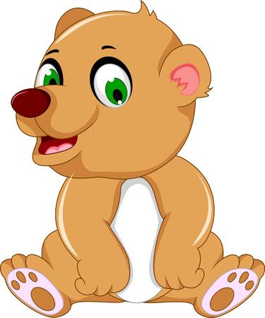 cute bear: cute bear cartoon sitting