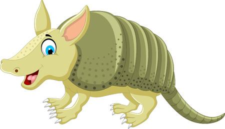 armoured: cute armadillo cartoon posing