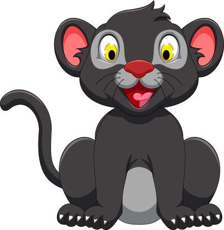 black panther: cute black panther cartoon