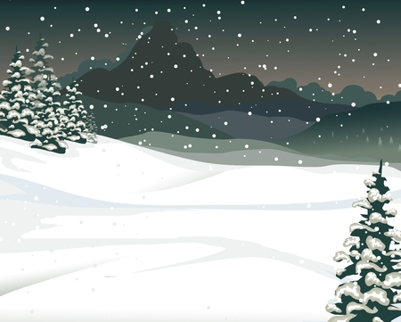 snow mountain: beauty snow mountain with forest pain landscape background