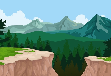 cliffs: beauty mountain cliff landscape background Illustration