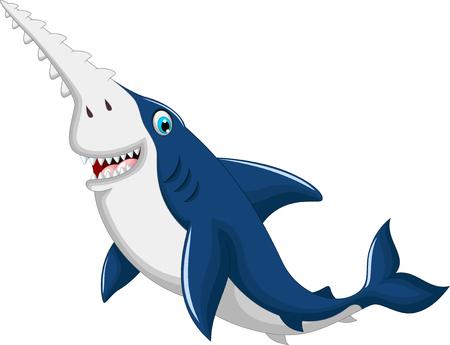 sea saw: funny shark saws cartoon