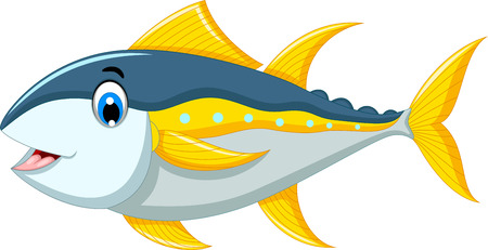 tuna fish: cute tuna fish cartoon for you design Illustration