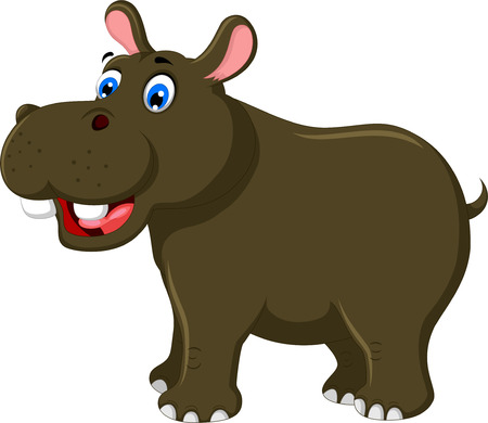 behemoth: cute hippo cartoon for you design