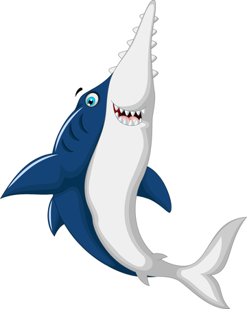 sea saw: cute shark saws cartoon jumping