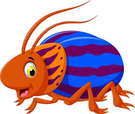 niedlich Saperda Käfer Cartoon posiert Vektorgrafik
