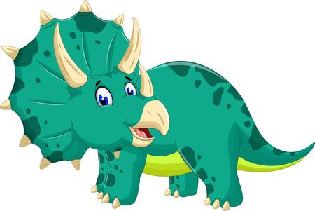 triceratops: cute Triceratops cartoon posing