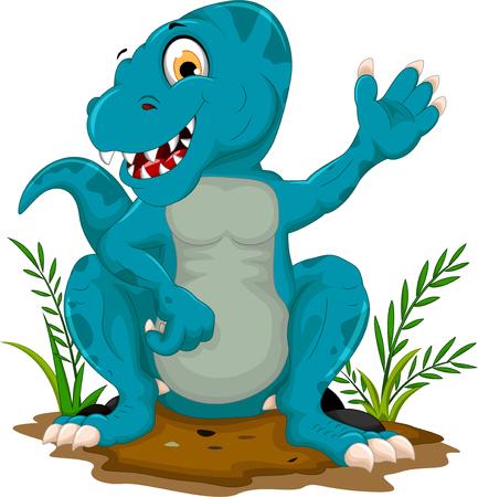tyrannosaurus: cute tyrannosaurus cartoon sitting for you design