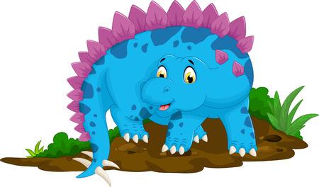 petrifying: funny stegosaurus cartoon for you design