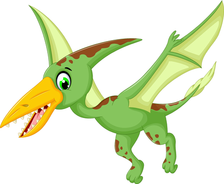 pterodactyl: funny pterodactyl cartoon flying