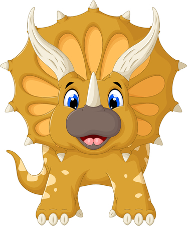 triceratops: funny Triceratops cartoon look at camera