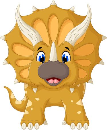 triceratops: funny Triceratops cartoon look at camera