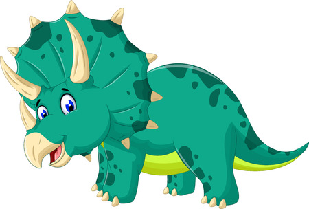 cute Triceratops cartoon for you design Illustration