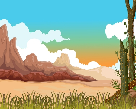 hillock: beauty landscape background with desert