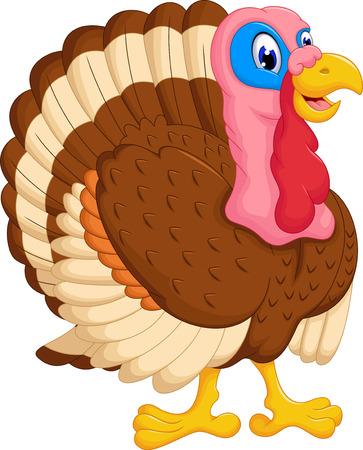 cute cartoon: cute turkey cartoon posing