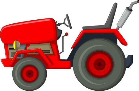 red tractor cartoon for you design Reklamní fotografie - 63130246
