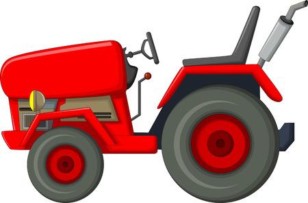 Roter Traktor Karikatur für Sie entwerfen Standard-Bild - 63130246