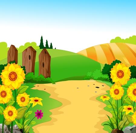 clouds cartoon: beauty landscape for you design Illustration