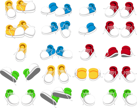 blue shoes: collection of shoes cartoon