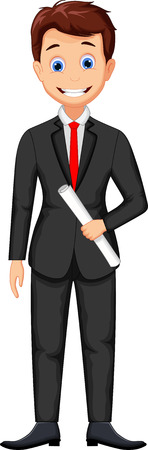Lachende zakenman cartoon Vector Illustratie