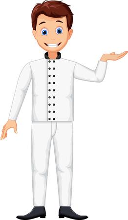 funny chef cartoon posing