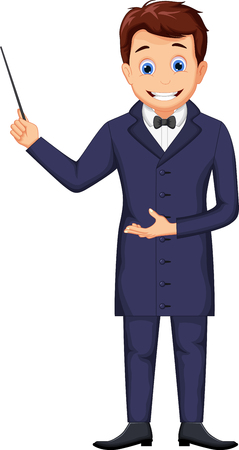 funny magician cartoon for you design
