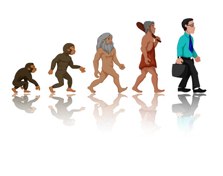 human evolution: Concept of human evolution from ape to man