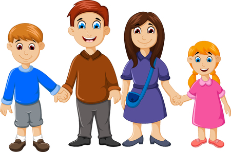 fraternal: happy family cartoon for you design