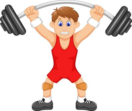 linda del hombre deportista haciendo pesas