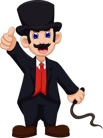 ringmaster: cute Ringmaster cartoon thumb up