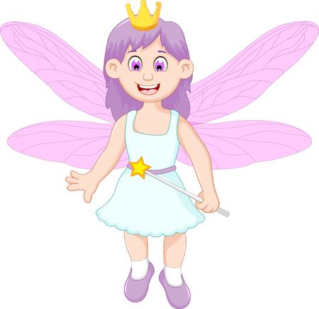 cute girl: cute little fairy girl cartoon