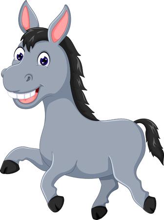 Lustige Pferdekarikatur, die mit Lächeln läuft Standard-Bild - 87924771