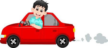 handsome driver cartoon