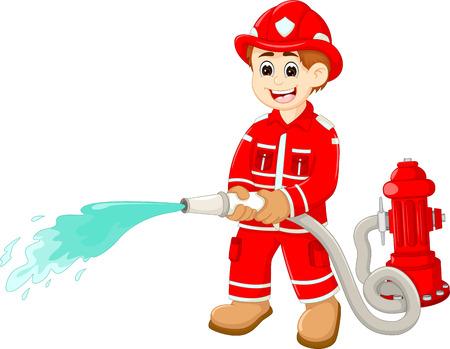 アクションでハンサムな消防士漫画