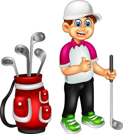 Funny Golfer Cartoon For Your Design
