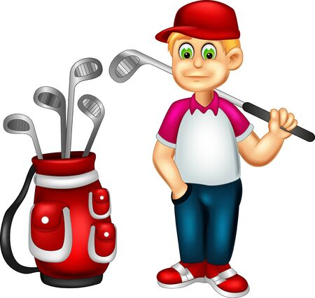 Funny Golfer Cartoon For Your Design