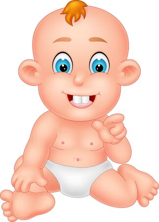 Funny Baby Cartoon For Your Design