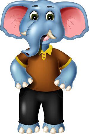 Dibujos animados de elefante divertido para su diseño