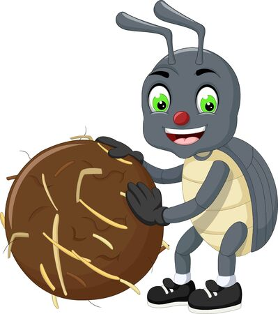 Funny Grey Beetle Cartoon For Your Design Stockfoto - 129465768